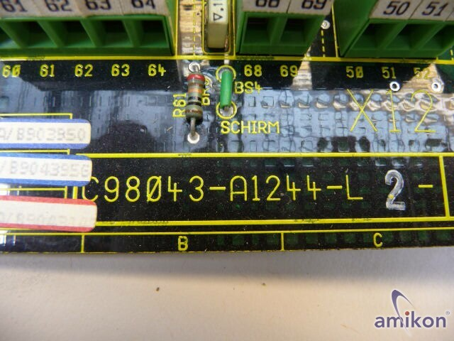 Siemens Simoreg Spindle Board C98043-A1244-L2-07  Hover