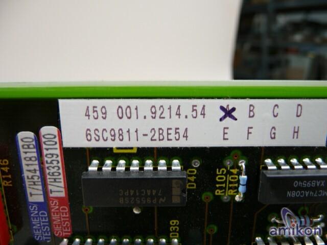 Siemens Simovert Netzsteuersatz und Zwischenkreisregelung 6SC9811-2BE54  Hover