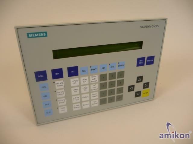Siemens Simadyn D Bediengerät 6DD1670-0AG0 Top !