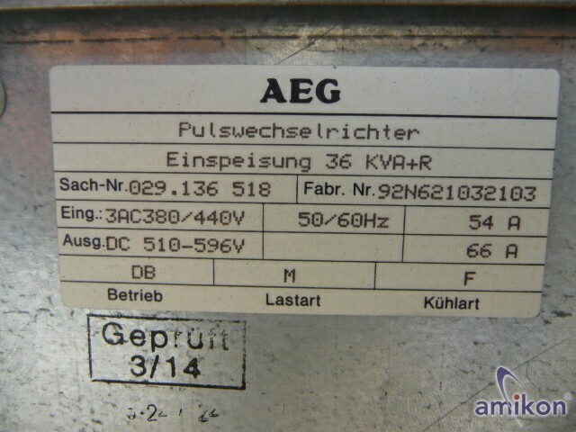 AEG Pulswechselrichter 36KVA+R  Hover