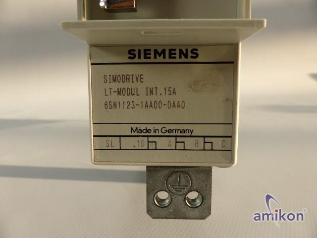 Siemens Simodrive Leistungsmodul 6SN1123-1AA00-0AA0 Version: A  Hover