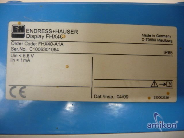 Endress+Hauser Remote Display FHX40 neu  Hover