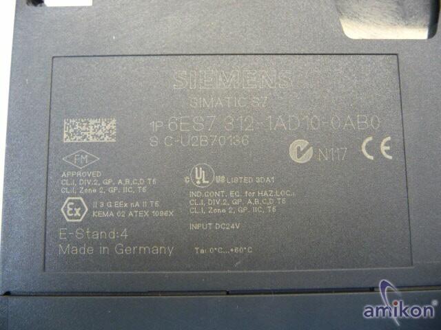 Siemens Simatic S7 6ES7312-1AD10-0AB0 6ES7 312-1AD10-0AB0  Hover