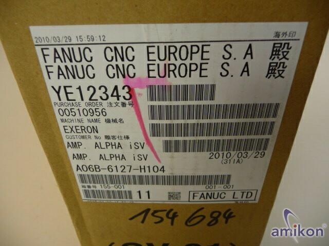 Fanuc Servo Amplifier Module aISV-40HV A06B-6127-H104 neu !  Hover
