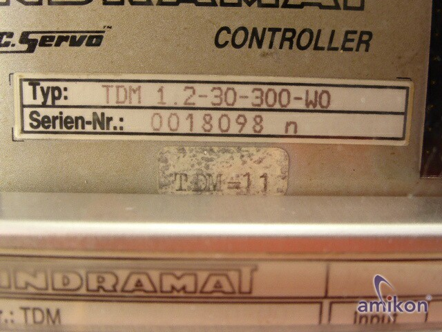 Indramat A.C Servo Controller TDM 1.2-30-300-W0  Hover