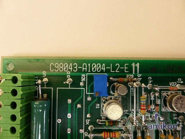 Siemens Simodrive Vorschubregler C98043-A1004-L2-E 11  Hover
