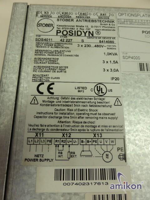Stöber Servo Drive Posidyn Frequenzumrichter SDS4011  Hover