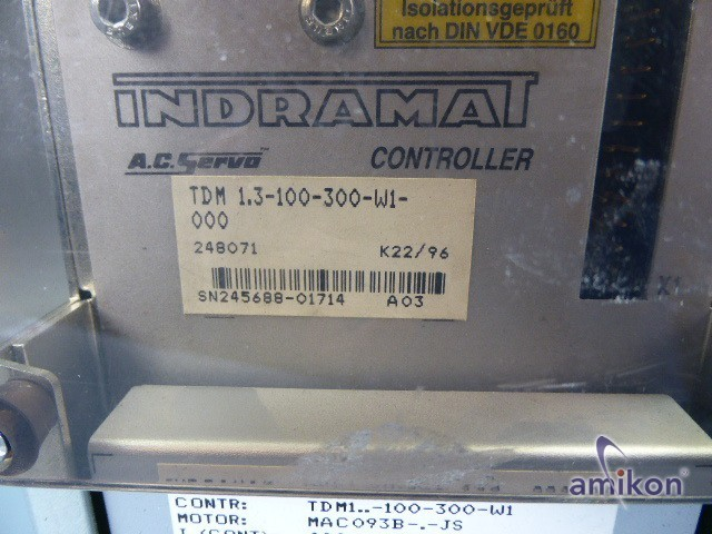 Indramat AC Servo Controller TDM-1.3-100-300-W1-000  Hover
