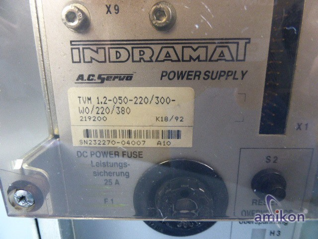 Indramat A.C. Servo Power Supply TVM 1.2-050-220/300-W0/220/380  Hover