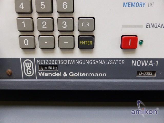 Wandel & Goltermann Netzoberschwingungs-Analysator NOWA1 NOWA-1  Hover