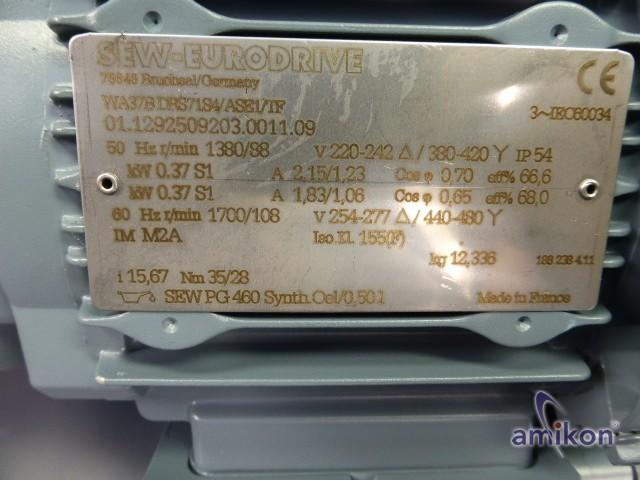 SEW-Eurodrive-Getriebemotor WA37B DRS71S4/ASE1/TF  0,37kW  Hover