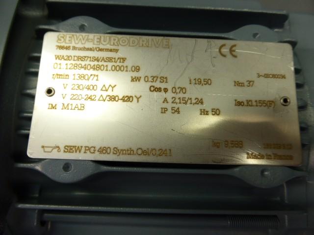 SEW-Eurodrive-Getriebemotor WA20 DRS71S4/ASE1/TF  kW 0,37  Hover