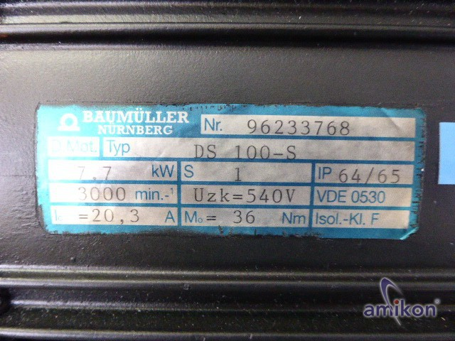 Baumüller Servo Motor DS 100-S DS 100 S neuwertig !  Hover