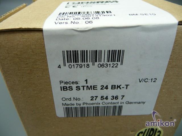 Phoenix IBS STME 24 BK-T  O.Nr. 2754367 neu !  Hover