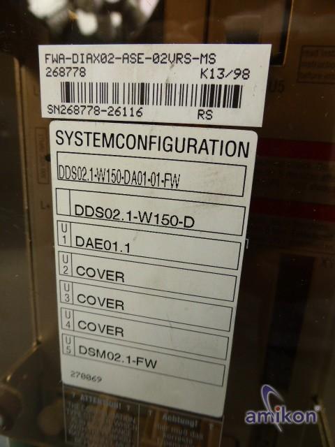 Indramat Ac Servo Controller DDS02.1-W150-DA01-01-FW  Hover