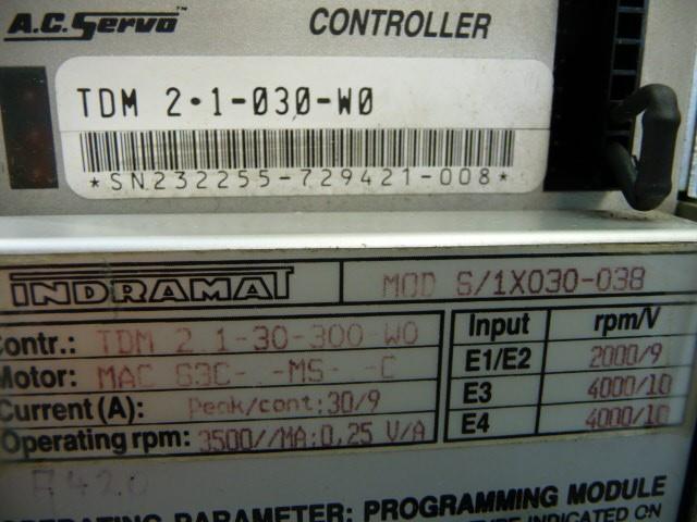 Indramat  AC-Servo Controller TDM 2.1-030-W0 TDM2.1-030-W0  Hover