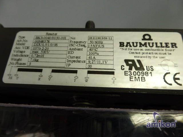 Baumüller Traffo drossel transformator 41A BK3-0040/0050-001  9,27/11,1V  Hover