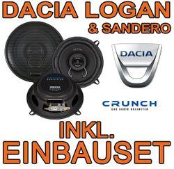 13cm Koax-System für Dacia Logan (inkl MCV) & Sandero Crunch DSX52 - JUST SOUND best choice for caraudio
