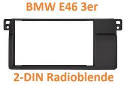 BMW 3er E46 2DIN Radioblende linksbündig