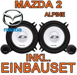 Alpine SXE-1350s - 13cm Kompo-System für Mazda 2 DY  - JUST SOUND best choice for caraudio