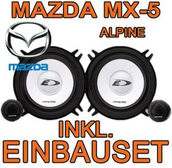 Alpine SXE-1350s - 13cm Kompo-System für Mazda MX5 NA - JUST SOUND best choice for caraudio