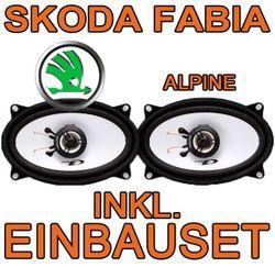 Skoda Fabia 1 Kombi - Lautsprecher hinten - Alpine SXE-4625S - 4x6 Koax-System