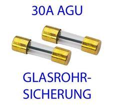 30A AGU/SG Glasrohr Sicherung 2er Pack
