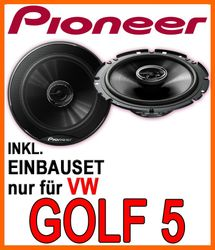 vw golf 5 heck lautsprecher pioneer ts g1720f 16cm. Black Bedroom Furniture Sets. Home Design Ideas