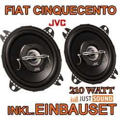 Lautsprecher - JVC CS-J420  - 10cm Koaxe für Fiat Cinquecento - JUST SOUND best choice for caraudio