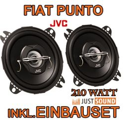 Lautsprecher hinten - JVC CS-J420 - 10cm Koaxe für Fiat Punto 1 - JUST SOUND best choice for caraudio
