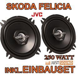 Lautsprecher - JVC CS-J520 - 13cm Koaxe für Skoda Felicia - JUST SOUND best choice for caraudio