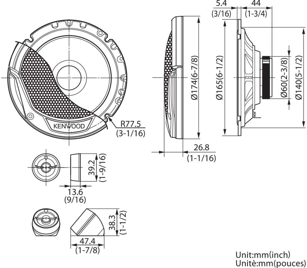 Kenwood KFC-E170P - 16cm 2-Wege Lautsprecher