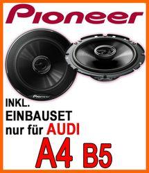 Audi A4 B5 Limousine - Heck Lautsprecher - Pioneer TS-G1720F - 16cm 2-Wege 300 Watt Koax Einbauset