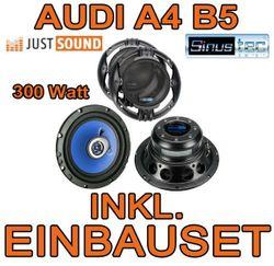 Heck Lautsprecher - Sinustec ST 165c - 16cm Einbauset für Audi A4 B5 Limousine - JUST SOUND best choice for caraudio