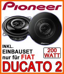 Fiat Ducato II Typ 244 - Bj. 2002-2006 - Lautsprecher - Pioneer TS-G1032i - 10cm Einbauset