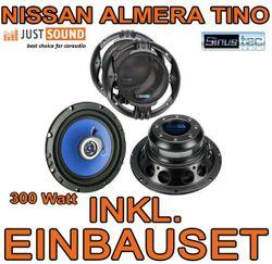 Lautsprecher - Sinustec ST 165c - 16cm Einbauset für Nissan Almera + Tino - JUST SOUND best choice for caraudio