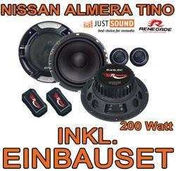Nissan Almera + Tino - Lautsprecher - Renegade RX 6.2c - 16cm Einbauset