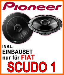 Pioneer TS-G1720F - 16cm 2-Wege 300 Watt Koax Einbauset für Fiat Scudo 1 - JUST SOUND best choice for caraudio