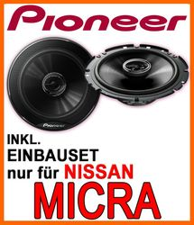 Nissan Micra - Pioneer TS-G1720F - 16cm 2-Wege 300 Watt Koax Einbauset