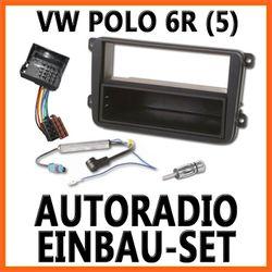VW Polo 5 ( 6R ) 2009-04/2014 - Unviersal DIN Autoradio Einbauset
