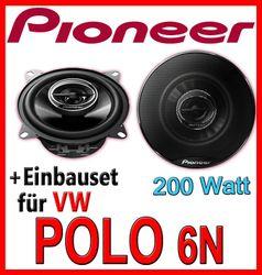 VW Polo 6N - Pioneer TS-G1032i - 10cm Koax-System Lautsprecher - Einbauset