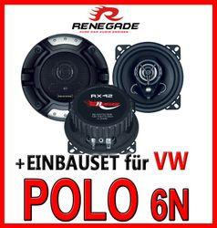 VW Polo 6N - Renegade RX-42 - 10cm Koax-System Lautsprecher - Einbauset