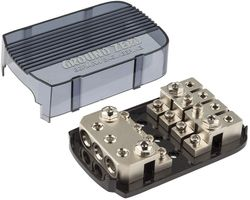 Ground Zero | GZFH 3.50/4.20 ANL/MANL | 4-fach Sicherungsverteiler für Mini-ANL oder ANL Sicherungen