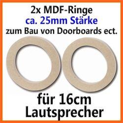 2 Stück MDF Holzringe 16cm Lautsprecherringe 25mm