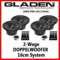Gladen Audio Zero Pro 165.2 Dual - 16cm Doppelkompo-System
