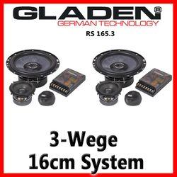 Gladen Audio RS 165.3 - 16cm 3-Wege