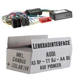 Lenkradfernbedienung Lenkradinterface Audi A3 / A4 / TT ISO/Teilaktivsystem > Pioneer