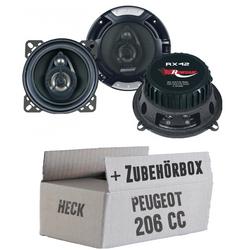 Peugeot 206 CC Heck - Renegade RX-42 - 10cm Koax-System - Einbauset
