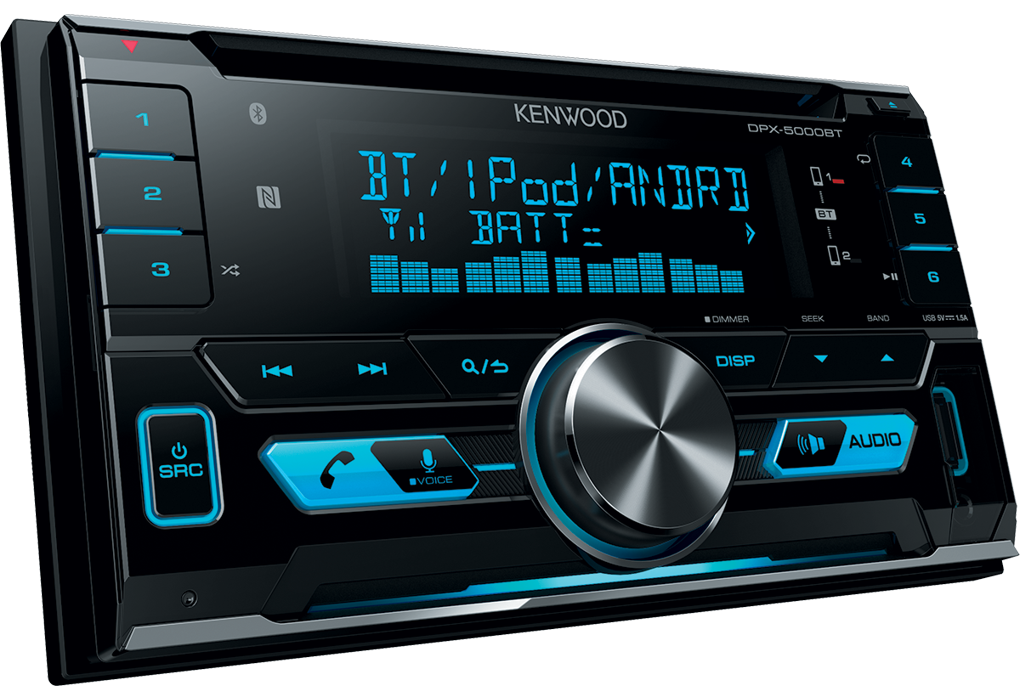 kenwood dpx 5000bt 2din bluetooth usb autoradio. Black Bedroom Furniture Sets. Home Design Ideas