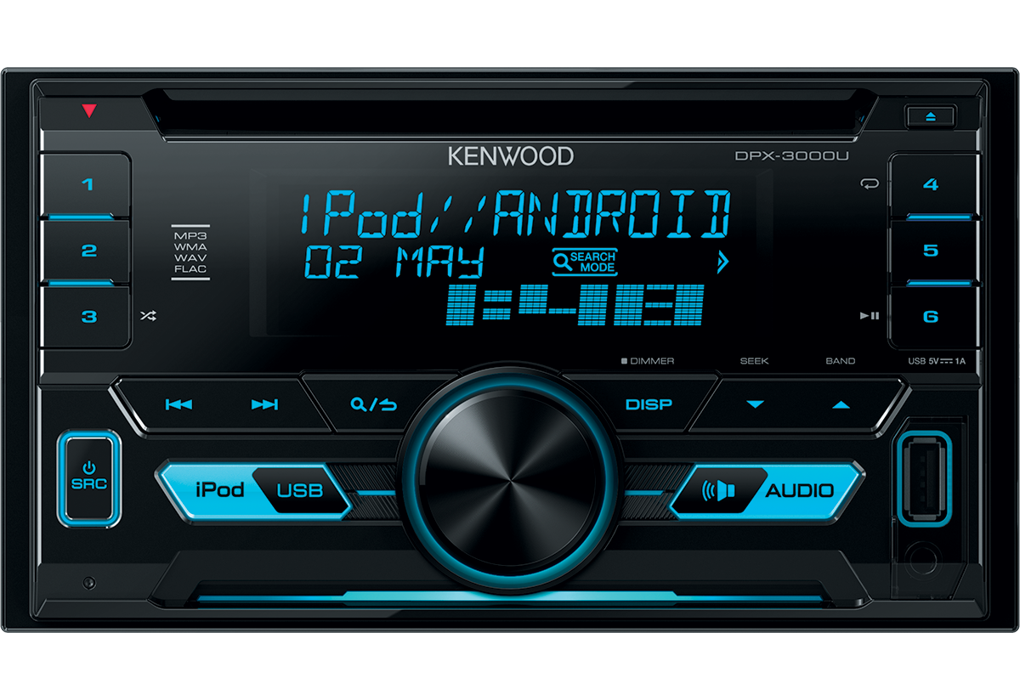 kenwood dpx 3000u 2din usb cd mp3 autoradio android apple radio auto pkw 12v ebay. Black Bedroom Furniture Sets. Home Design Ideas